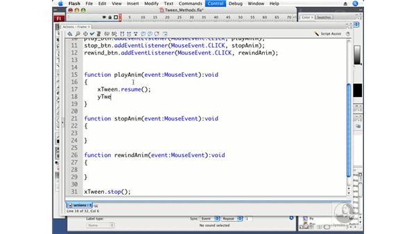 Understanding Tween Class methods: ActionScript 3.0 in Flash CS3 Professional Beyond the Basics