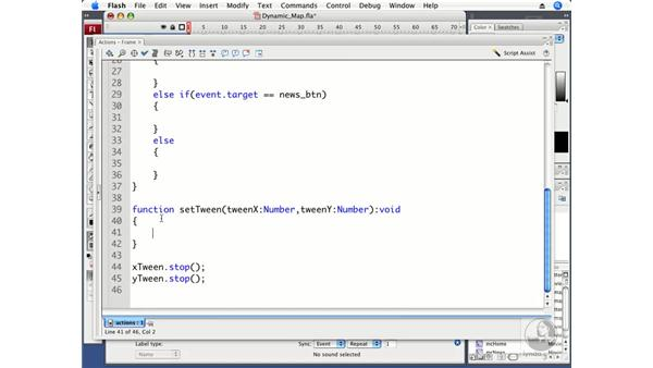 Using tweens to move a dynamic map: ActionScript 3.0 in Flash CS3 Professional Beyond the Basics