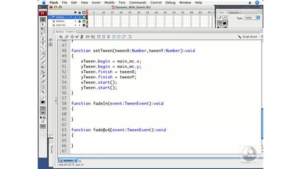 Making the map respond to tween events: ActionScript 3.0 in Flash CS3 Professional Beyond the Basics
