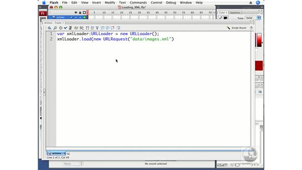 Loading external XML data: ActionScript 3.0 in Flash CS3 Professional Beyond the Basics