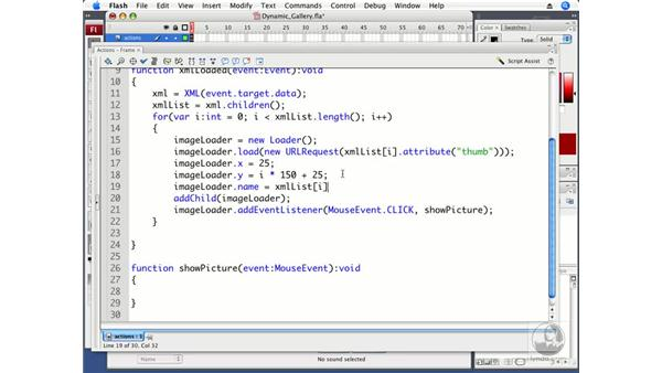 Using XML data to create an image gallery: ActionScript 3.0 in Flash CS3 Professional Beyond the Basics