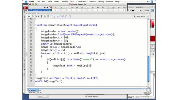 Adding tweens to your gallery: ActionScript 3.0 in Flash CS3 Professional Beyond the Basics
