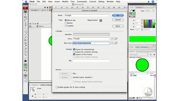 Reusing a ScaleButton class: ActionScript 3.0 in Flash CS3 Professional Beyond the Basics