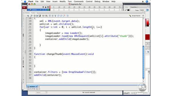 Dividing the thumbnail into segments: ActionScript 3.0 in Flash CS3 Professional Beyond the Basics