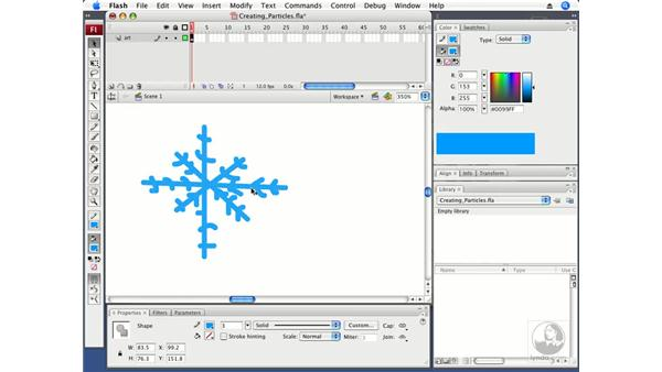 Creating particles: ActionScript 3.0 in Flash CS3 Professional Beyond the Basics