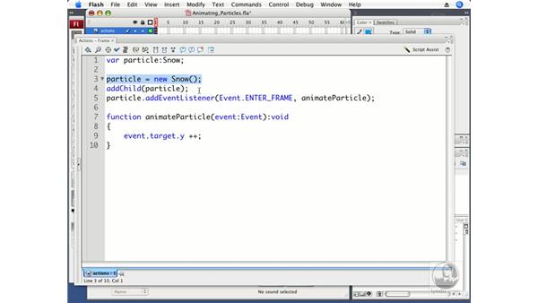 Animating particles: ActionScript 3.0 in Flash CS3 Professional Beyond the Basics