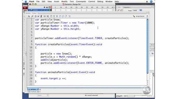 Defining a dynamic range: ActionScript 3.0 in Flash CS3 Professional Beyond the Basics