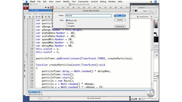 Using different particles: ActionScript 3.0 in Flash CS3 Professional Beyond the Basics