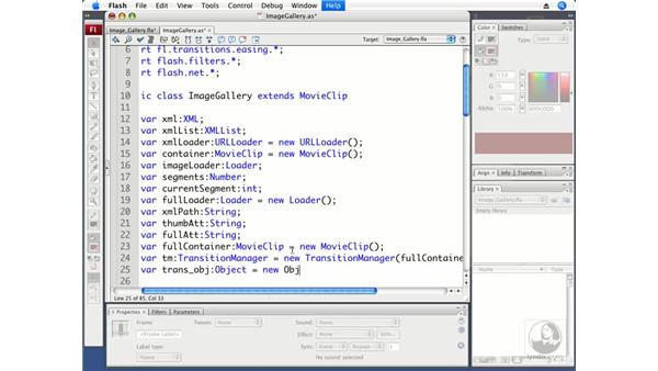 Using transitions in an image gallery: ActionScript 3.0 in Flash CS3 Professional Beyond the Basics
