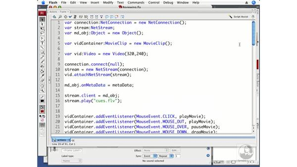 Reviewing Flash video basics: ActionScript 3.0 in Flash CS3 Professional Beyond the Basics