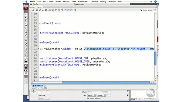 Creating a resizable interface: ActionScript 3.0 in Flash CS3 Professional Beyond the Basics