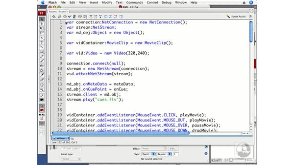 Using XML for closed captioning: ActionScript 3.0 in Flash CS3 Professional Beyond the Basics