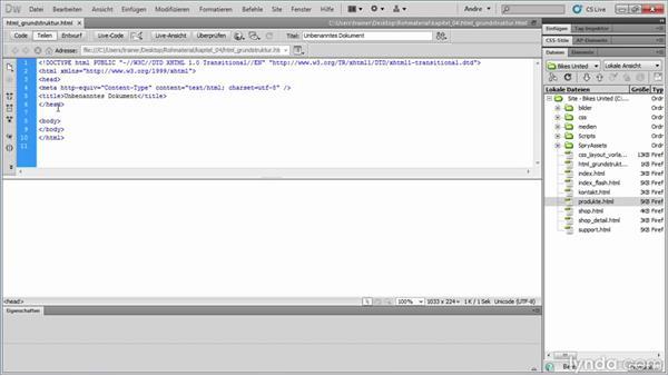 HTML-Grundaufbau
