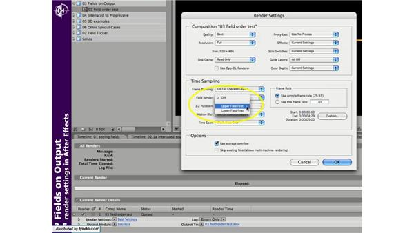 Fields on output: Understanding Fields & Interlacing in After Effects