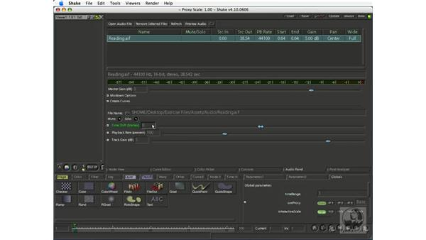Previewing and looping audio: Shake 4.1 Essential Training