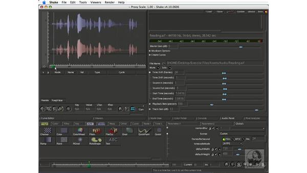 Slipping audio sync: Shake 4.1 Essential Training