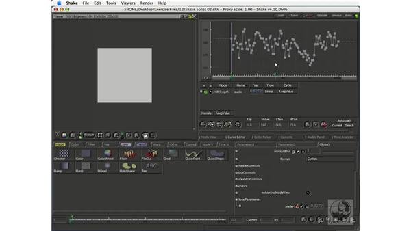 Extracting curves from audio files: Shake 4.1 Essential Training