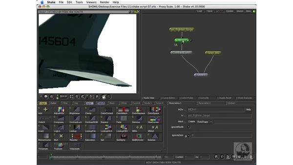 Color-correcting CGI: Shake 4.1 Essential Training