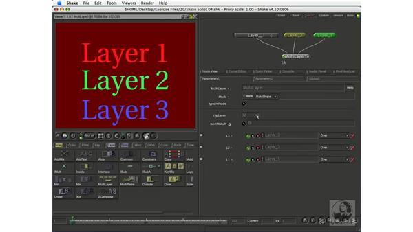 The MultiLayer node: Shake 4.1 Essential Training