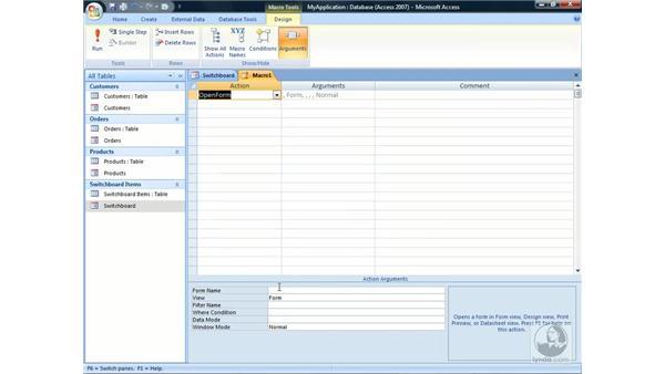Creating auto-executing macros: Access 2007 Essential Training