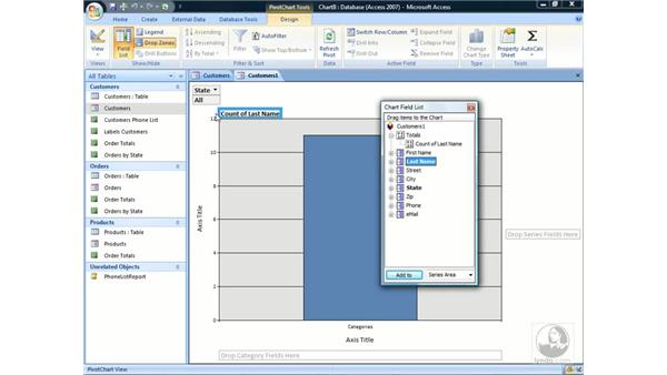 Working with pivot charts: Access 2007 Essential Training