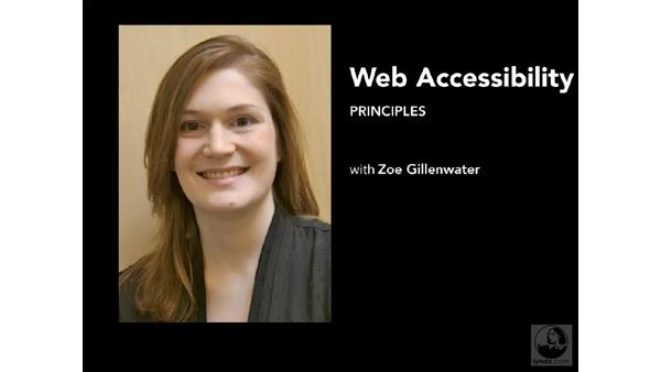 Welcome: Web Accessibility Principles