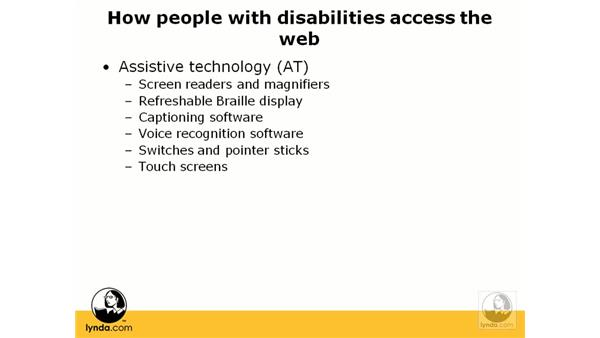 How does accessibility help your users?: Web Accessibility Principles