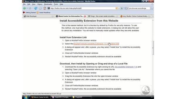 Customizing Firefox for accessibility testing: Web Accessibility Principles