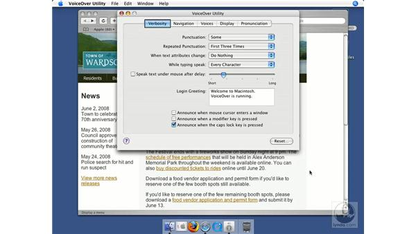 Using the VoiceOver screen reader on Mac OS X: Web Accessibility Principles