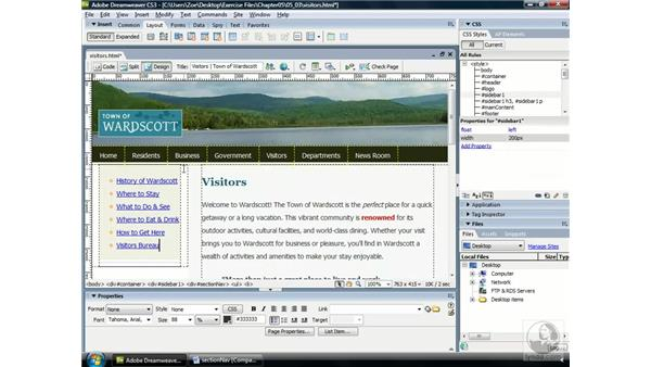 Creating a vertical navigation bar: Web Accessibility Principles