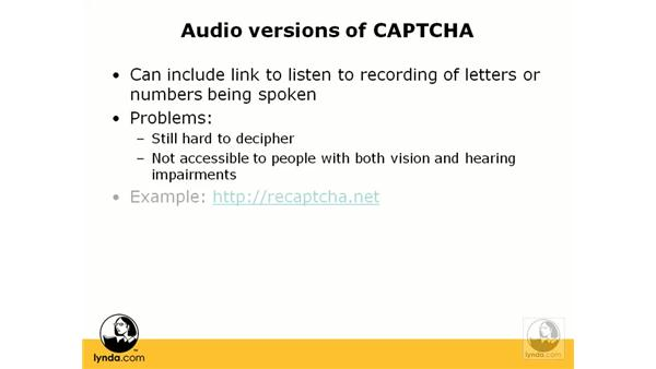 Dealing with CAPTCHA: Web Accessibility Principles
