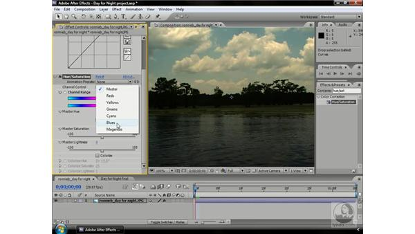Changing the time of day with Curves: After Effects CS3 Professional Beyond the Basics