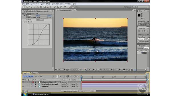 Using the color modes: After Effects CS3 Professional Beyond the Basics