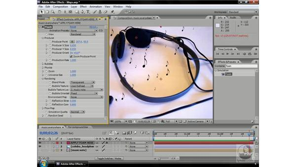 Controlling effects with maps: After Effects CS3 Professional Beyond the Basics