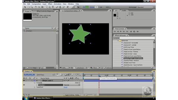 Saving animation presets: After Effects CS3 Professional Beyond the Basics
