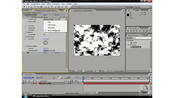 Fractal Noise CS3 and HDR: After Effects CS3 Professional Beyond the Basics