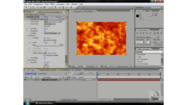 Creating fire with Fractal Noise: After Effects CS3 Professional Beyond the Basics