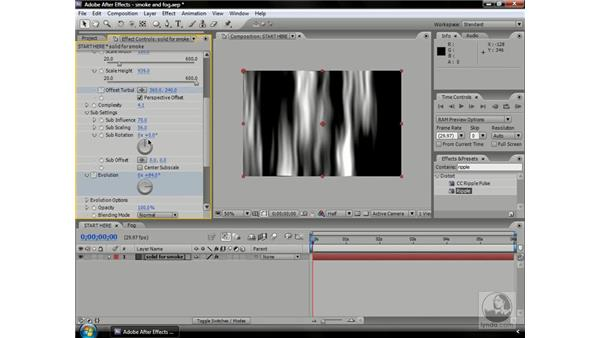 Creating smoke with Fractal Noise: After Effects CS3 Professional Beyond the Basics