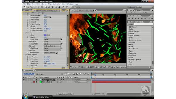 Fine-tuning Shatter pieces: After Effects CS3 Professional Beyond the Basics