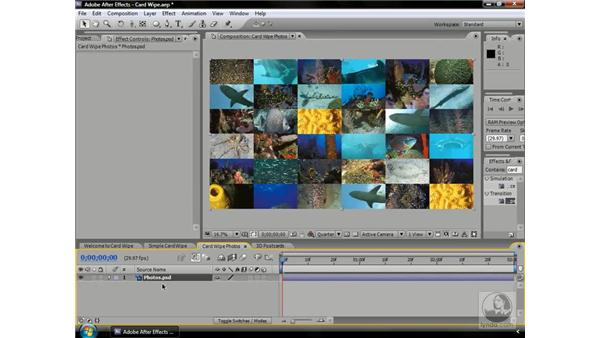 Learning Card Wipe: After Effects CS3 Professional Beyond the Basics