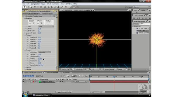 Using common particle system elements: After Effects CS3 Professional Beyond the Basics