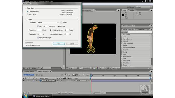 Using Auto-trace: After Effects CS3 Professional Beyond the Basics