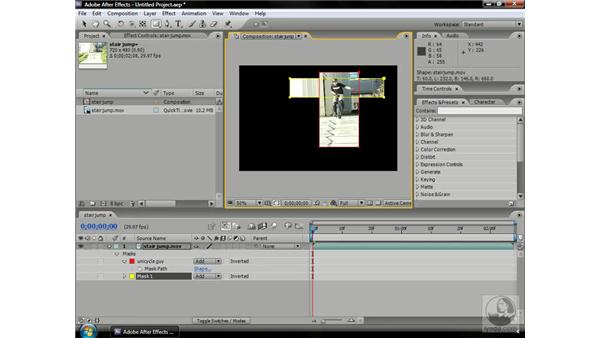 Mask modes: After Effects CS3 Professional Beyond the Basics