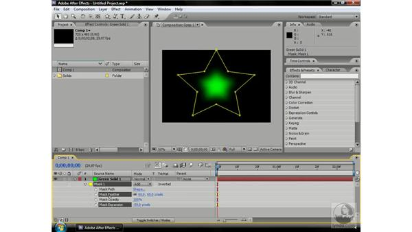 Mask options: After Effects CS3 Professional Beyond the Basics