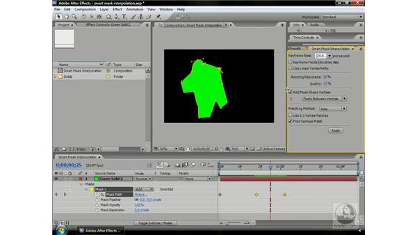 Smart mask interpolation: After Effects CS3 Professional Beyond the Basics