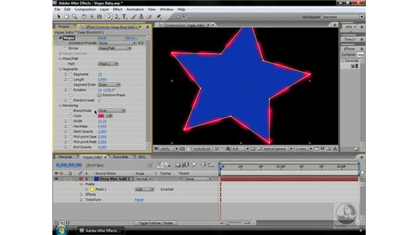 Using masks and the Vegas effect: After Effects CS3 Professional Beyond the Basics