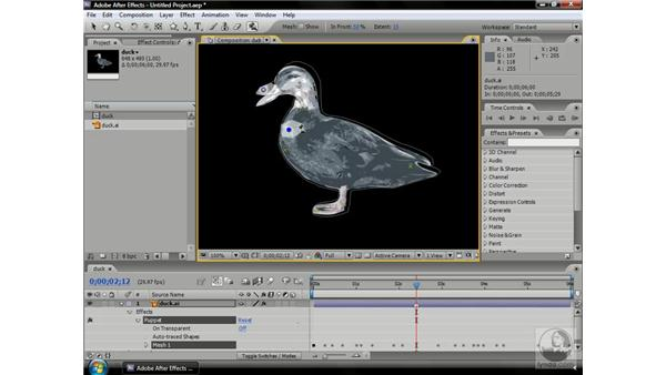 Using Puppet Overlap pins: After Effects CS3 Professional Beyond the Basics