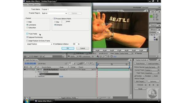 A closer look at tracking options: After Effects CS3 Professional Beyond the Basics