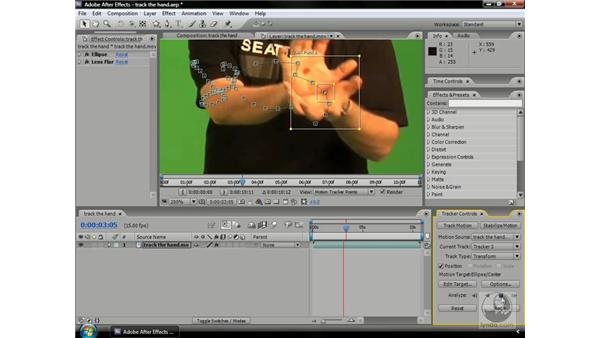 Tracking and effects: After Effects CS3 Professional Beyond the Basics