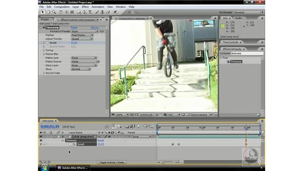 Using the Timewarp effect: After Effects CS3 Professional Beyond the Basics